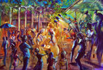 No 24 Multi Cultural Festival Canberra price AUS $4,000.oo artist Bob Gammage - PRINTS AVAILABLE