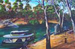 No 18  The Canberra Echuca original AUS $1200 ARTIST BOB GAMMAGE - PRINTS AVAILABLE