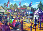 No 11 Australia Day  Simply Bushed Koshagaya park Campbelltown price AUS$2500.oo - PRINTS AVAILABLE