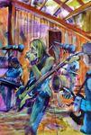 No 66 BLUEZONE LIVE AT THE MINI -GUMBALL artist - Bob Gammage AUS $3500.oo -