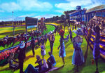 No 70 The running of the Ballarat Cup size 800mm x 1150mm AUS$4500.oo