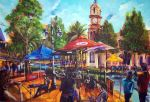 No 60 Tamworth Country Music Festival  Tori busking at the inland cafe *signed  price AUS $3500.oo- PRINTS AVAILABLE