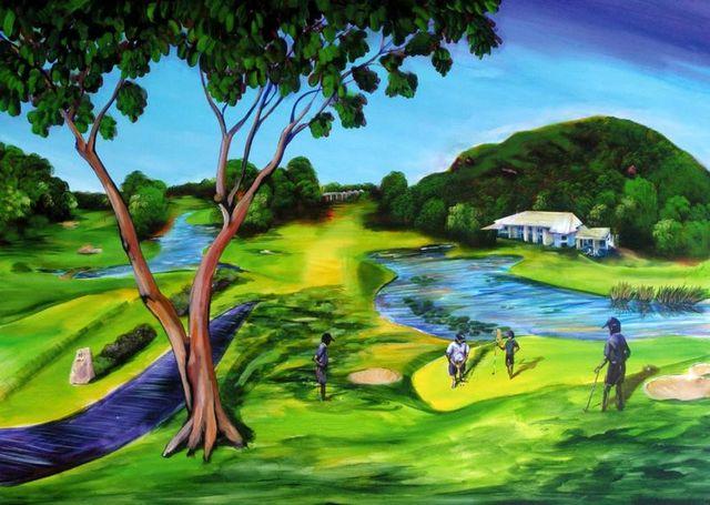 New Zealand Pro Invitational Tour 18th Green Hyatt Coolum QLD SOLD