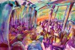 Joes Waterhole Series AUS $4,250.oo artist -BOB GAMMAGE-