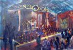 majestic balcony  Live Event Artscape  No 2 of 2 Artist Bob Gammage SOLD