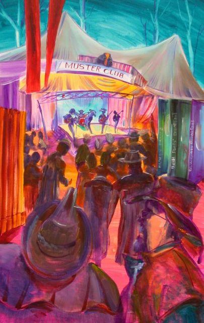 Muster Bar SOLD - prints available at  artist -BOB GAMMAGE-