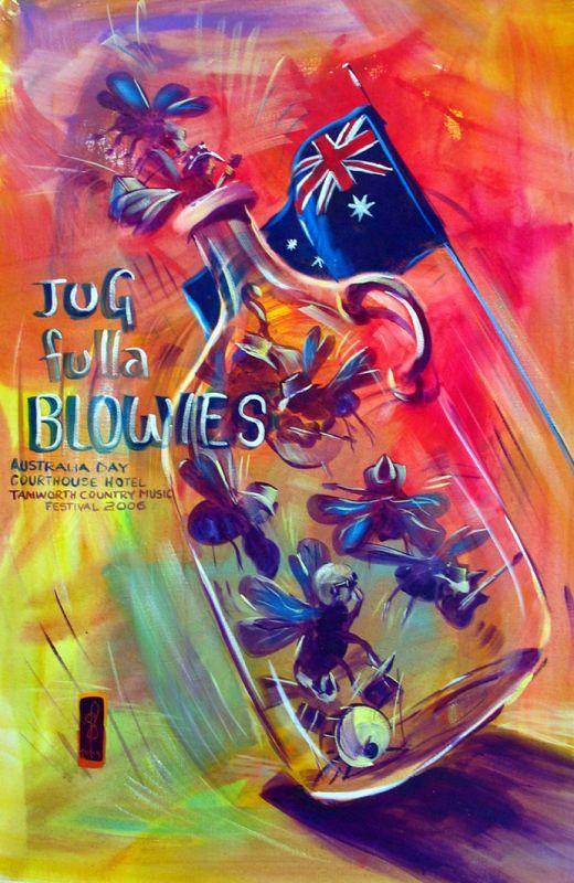 Jug Fulla Blowies Australia Day SOLD