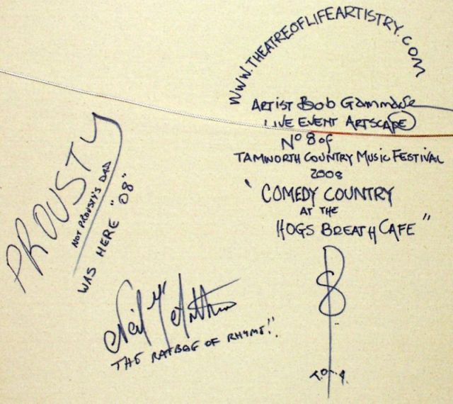 signatures comedy country tamworth 12cm