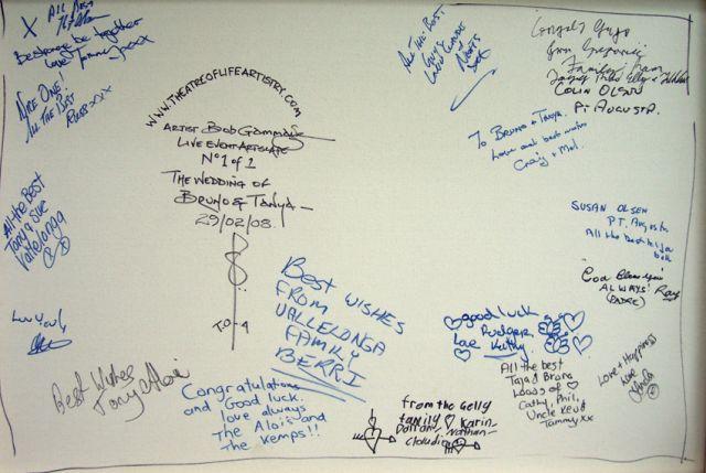 signatures bruno and tanya's wedding12cm